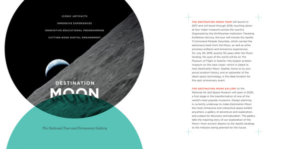 Smithsonian's Destination Moon Exhibit Fundraising Brochure