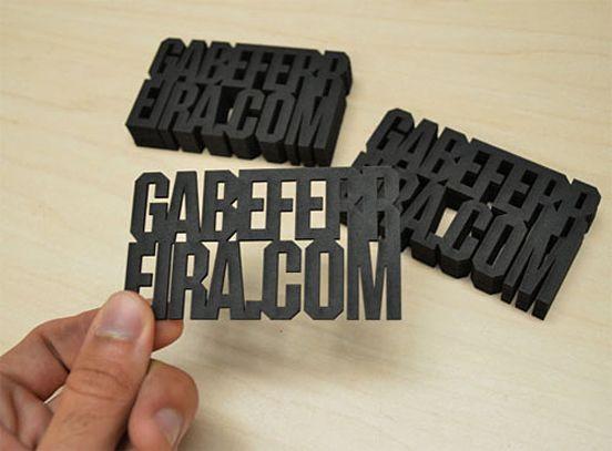 business card design by Gabe Ferreira