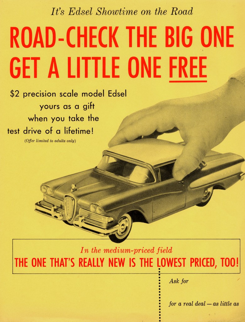 1957 scale model offer - these don't go for cheap on eBay !
