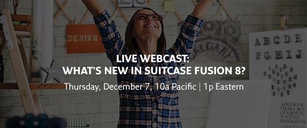 live webcast - suitcase fusion 8