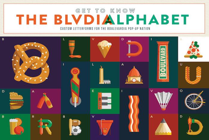 The blvdia alphabet