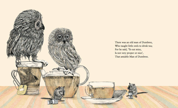 Owls and mice drink tea