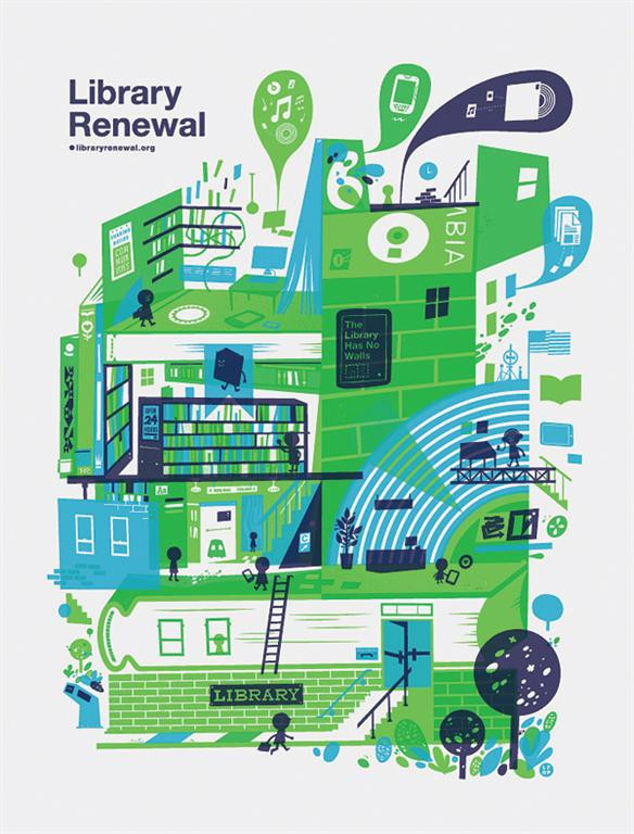 Library renewal poster