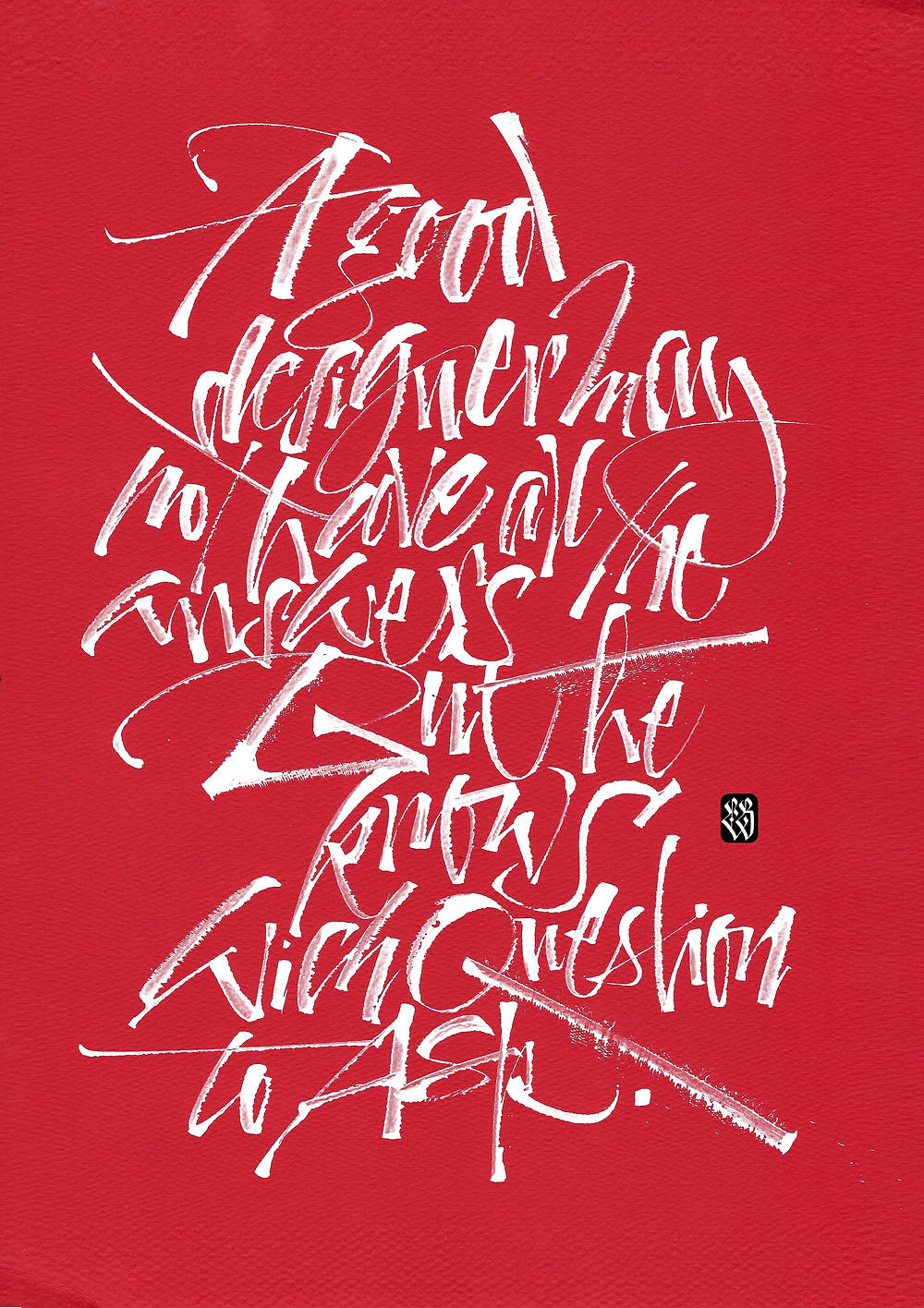 calligraphic works by Luca Barcellona