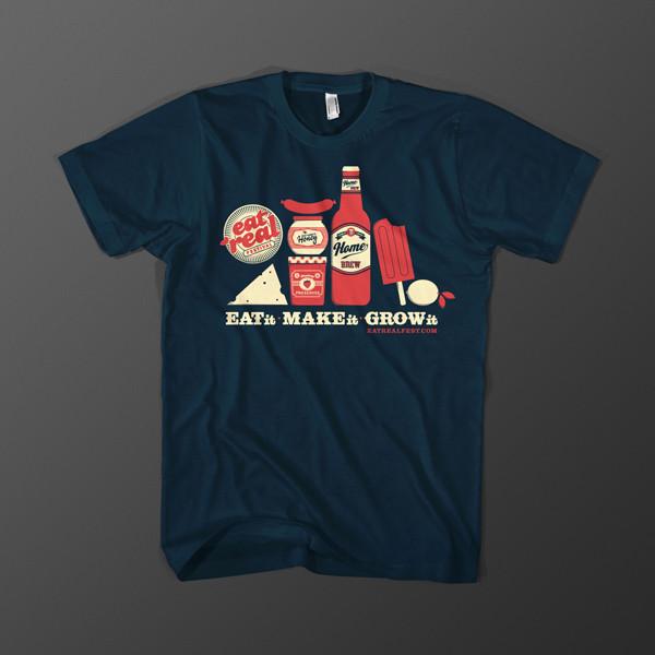 Eat real fest t-shirt