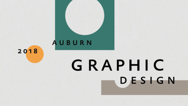 2018 Auburn Graphic Design Juried Student Show Poster and Video