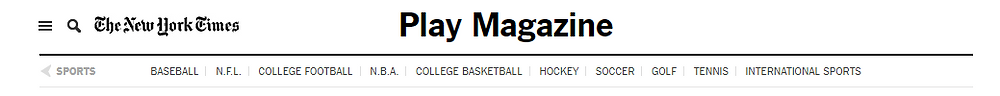 New York Times' sports supplement PLAY