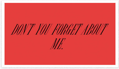 "Heads of State business cards design ""don't you forrget about me"""