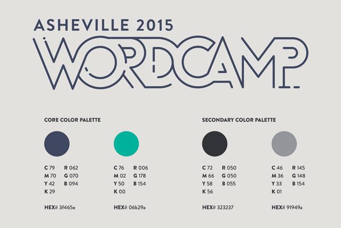 WordCamp Asheville Branding