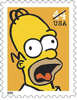 Homer Simpson's stamp
