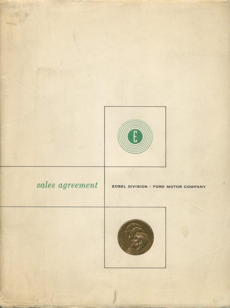 Edsel dealer sales agreement 1957