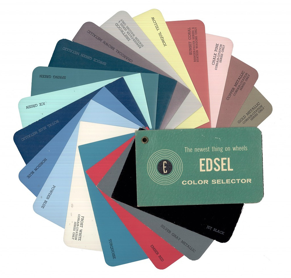 1957 Edsel paint color chip wheel.