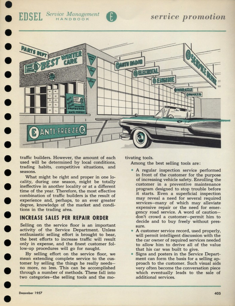 "1st issue of the Edsel ""Service Beacon"""