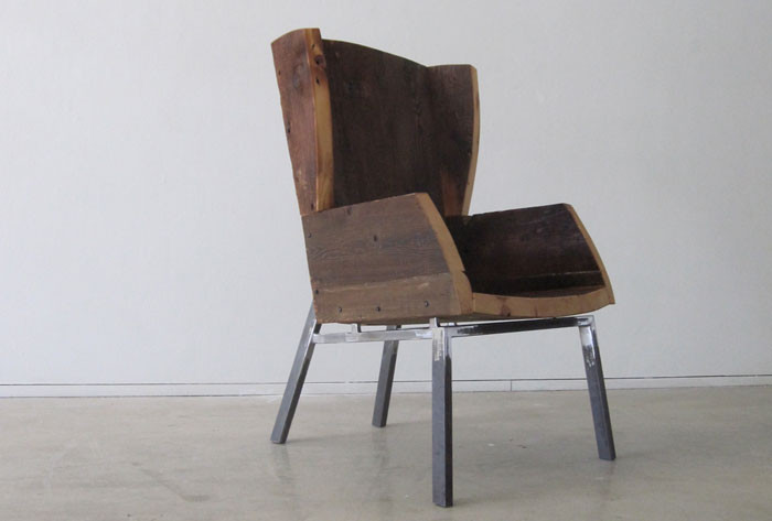 Salvaged Wingback; Seth Keller; 2010; Salvaged lumber, steel