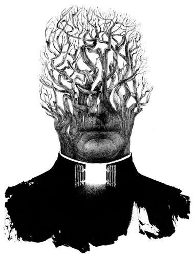 "Sam Weber's  illustration for ""The Priest That Preyed"""