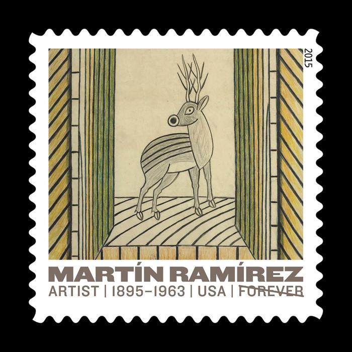 Martín Ramírez USPS Commemorative Stamps