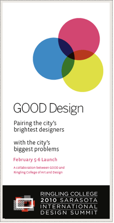 GOOD Design ad for the 2010 Sarasota International Design Summit