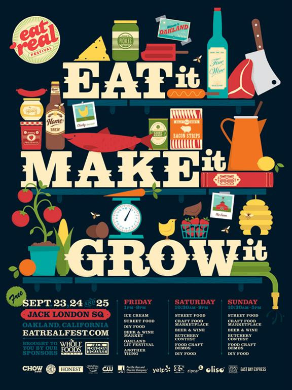 Eat Real Festival poster