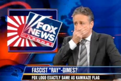 fox news logo parody jon stewart