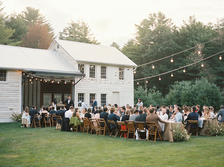 outdoor wedding dinner, Catskills