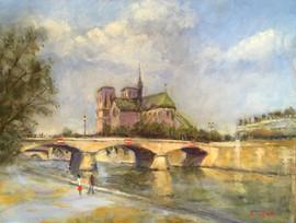 Notre Dame and Pont de l'Archeveque