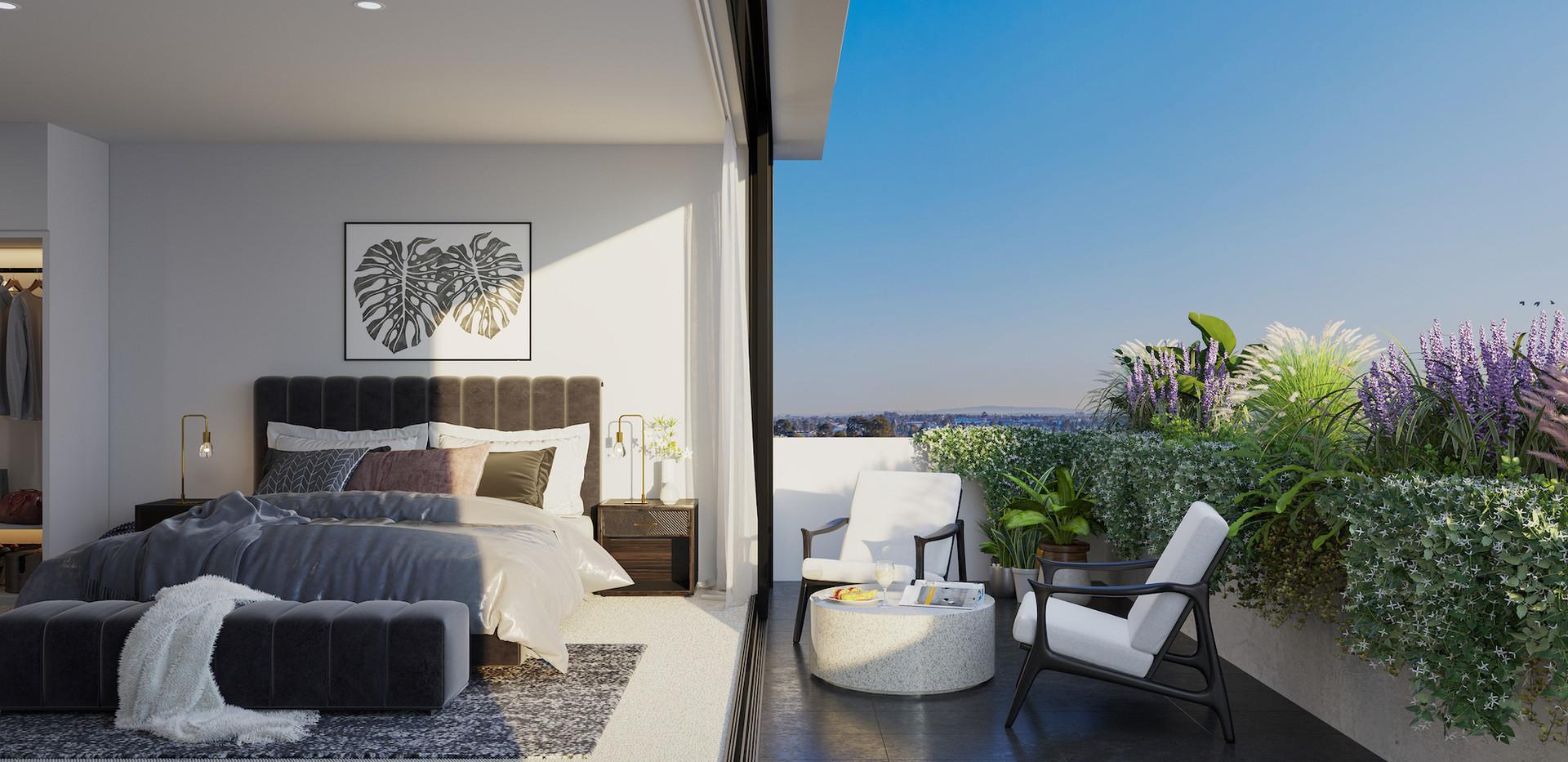 Luda Studios_Bedroom_Balcony_Opt 2_Sml_F