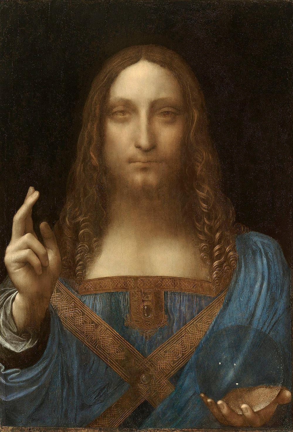 salvator mundi Leonardo da Vinci painting