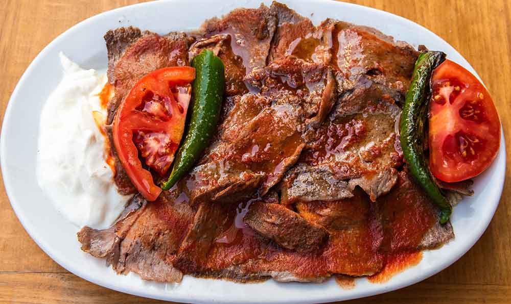 iskender kebab turkish food meat