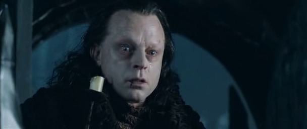 Grima Wormtongue tear lord of the rings