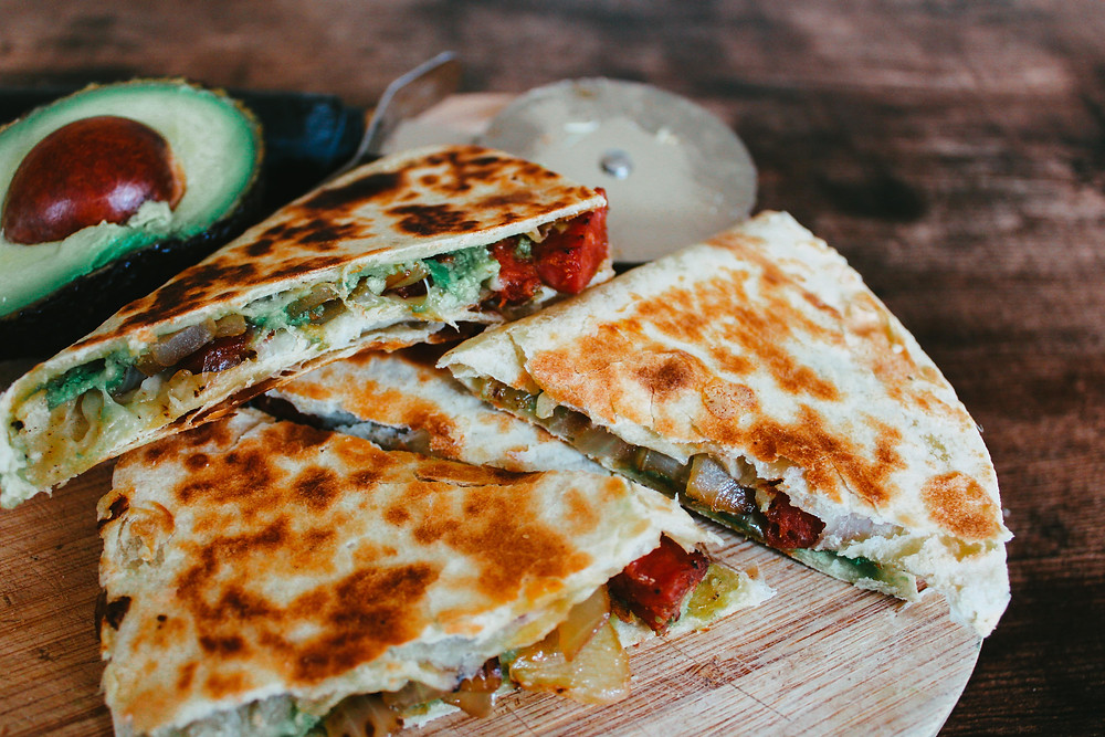 Quesadillas mexican foods photo