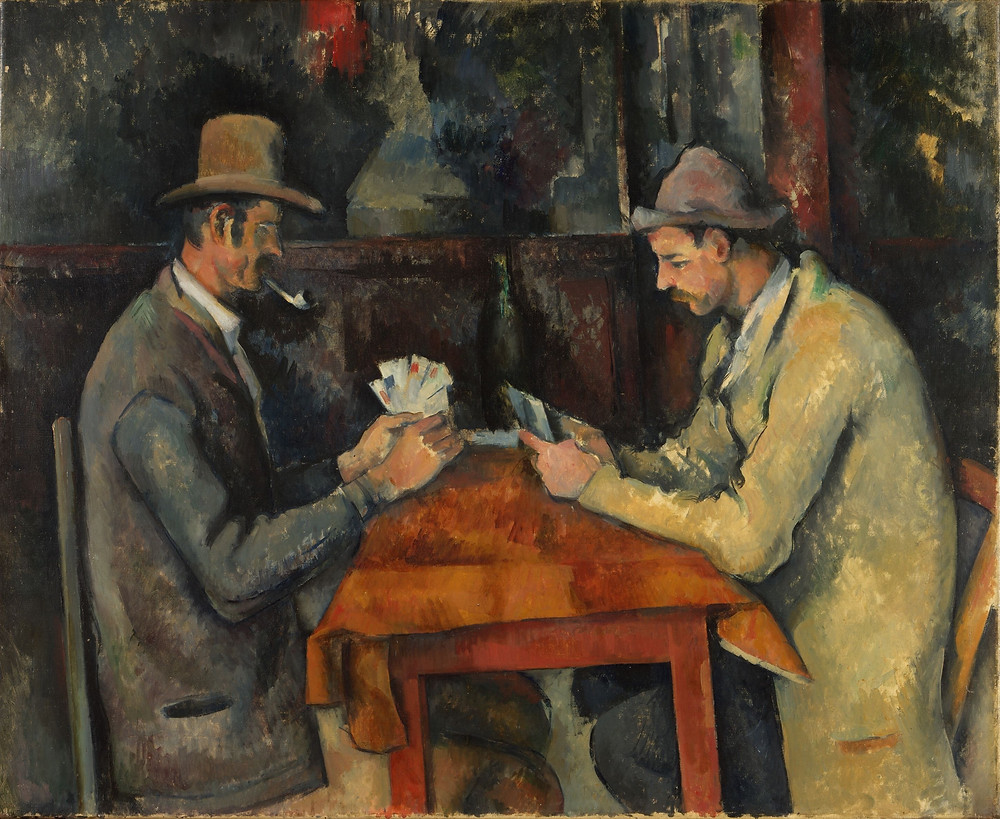 the card players paul cezanne painting