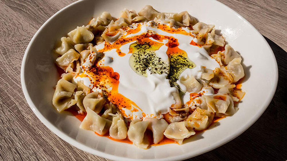manti turkish food photo