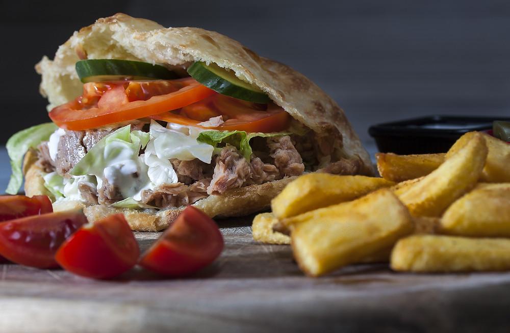 doner turkish food meat bread