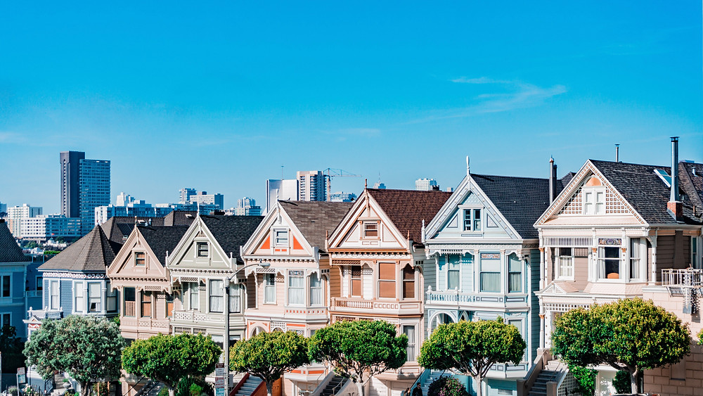 The Painted Ladies seven houses san francisco