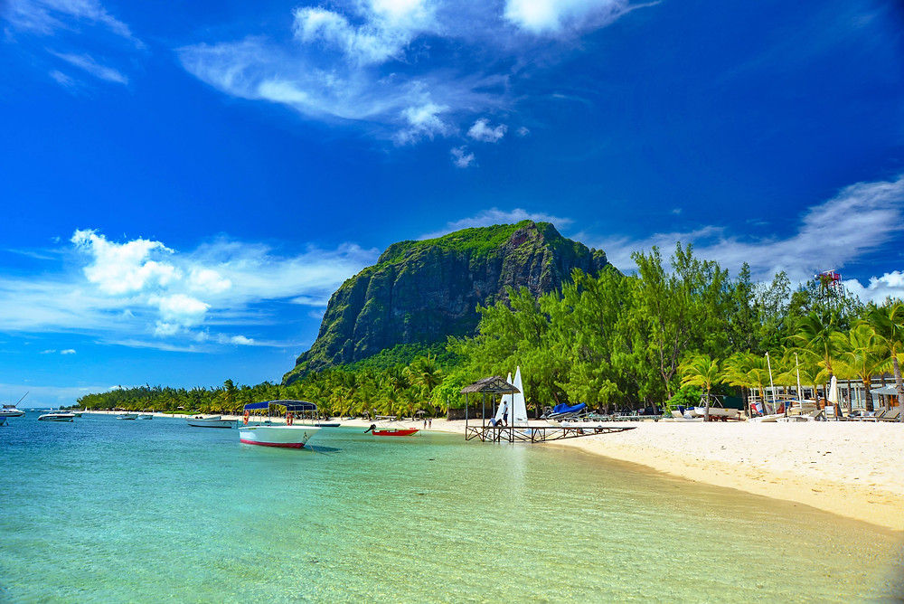 Mauritius beautiful beach view photo
