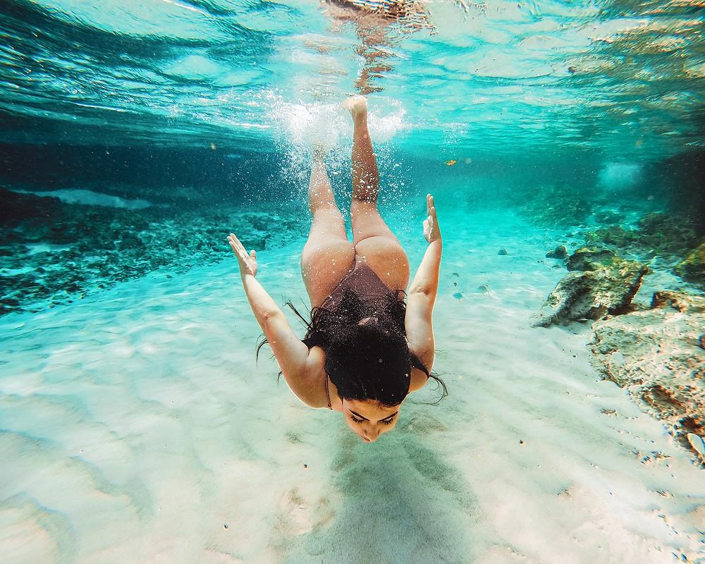 Cancun Mexico beach swimming photo