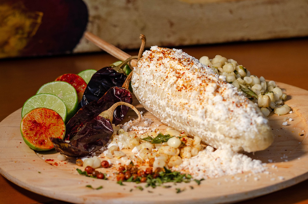elote mexican foods corn photo