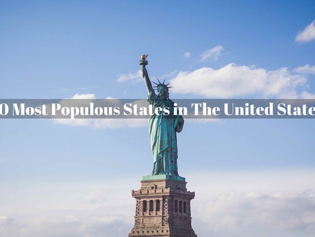 10 Largest States by Population , United States Of America