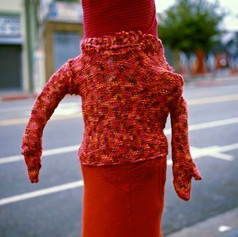 Untitled_Knitted Pole