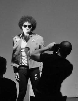 Michael Jackson Impersonator and Paparazzo
