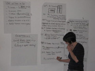Project meeting with coordinator Karen Dunbar 2007