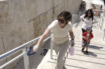 Cleaning The Getty
