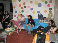 Project meeting at Krista Chael's Studio 2007