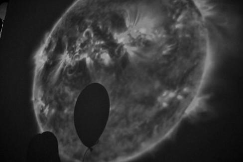 Rotating Sun (N.A.S.A.) and ballon shadow