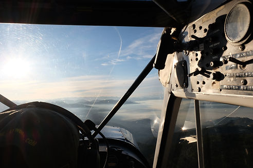 Attorney and pilot James Anderso flying over Puget Sound in Washington State