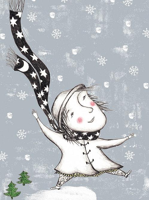 Winter, postkarte, monika maslowska, maslowska, illustration, weihnachten, tirol, rum, innsbruck, glück, bestellen, kaufen
