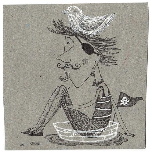 ORIGINAL Pirat im Boot