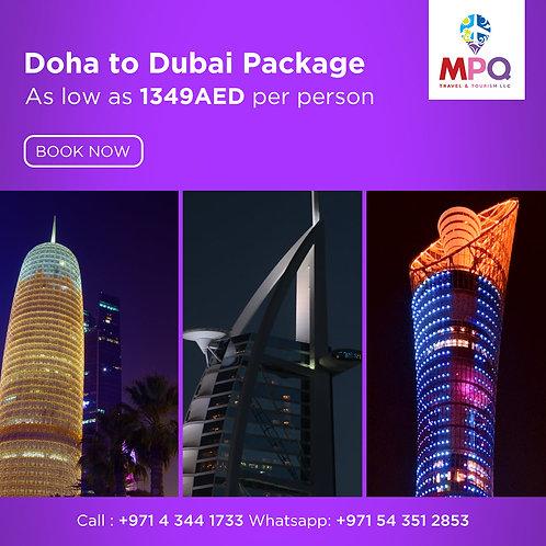 Doha to Dubai Package