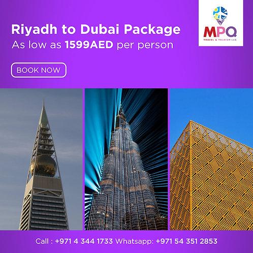 Riyadh to Dubai Package