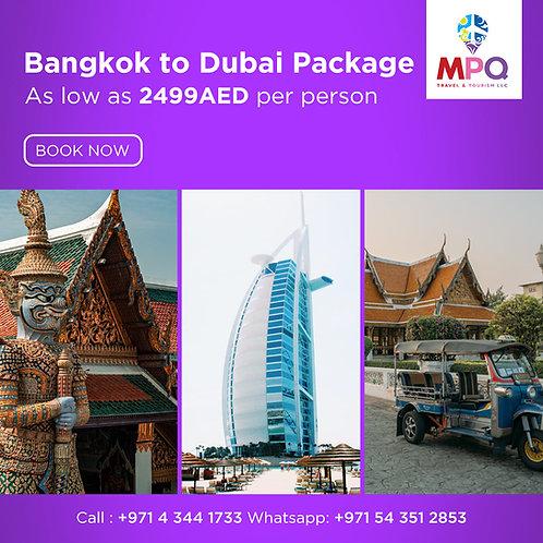 Bangkok to Dubai Package